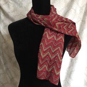 Geometric silk scarf